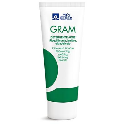 gram, detergente, acne, skincare, detersione, prodotto, bellezza, pelle, dermatologia, cantabria labs, difa cooper