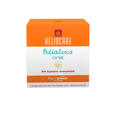 heliocare-pediatrics-oral-24-bustine, fotoprotezione, protezione, integratore alimentare